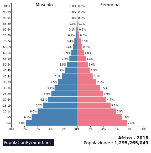 Resultat d'imatges de demografic piramide africa